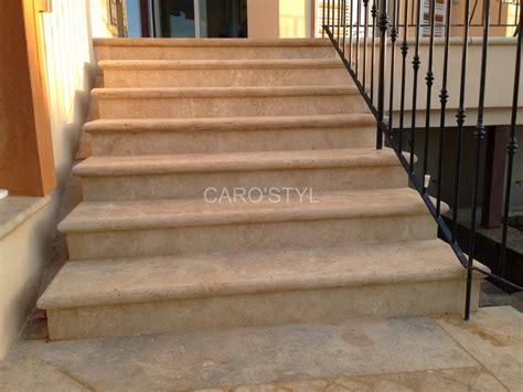 escalier sur mesureen naturelle travertin beige