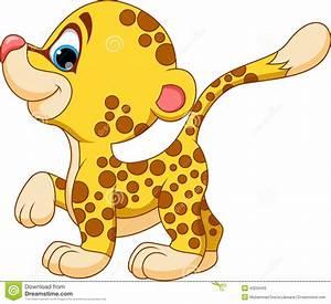 Cute Baby Cheetah Clipart