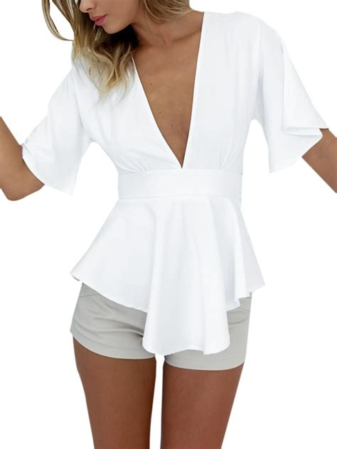 bow sleeve v neck blouse high quality bell sleeve tops buy cheap bell sleeve tops