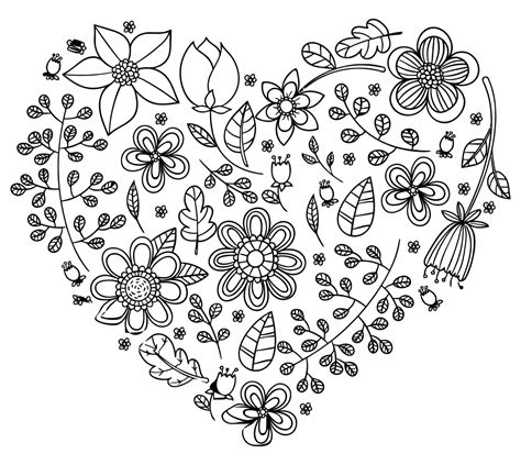 onlinelabels clip art black floral heart