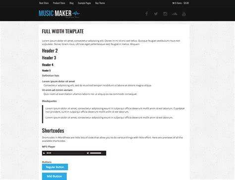 template full widht full width template music maker theme help