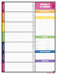colorful weekly blogging planner image blog life With savings planner template
