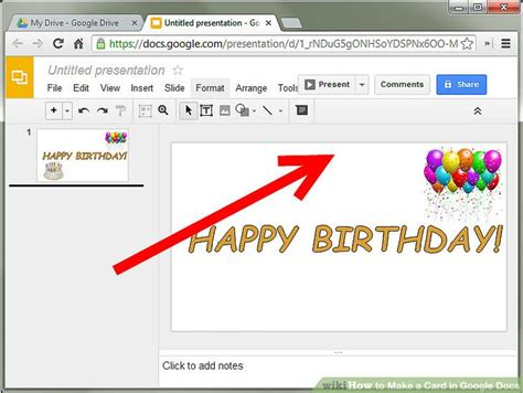 728 X 547 Wikihow How To Make A Card In Google Docs