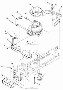 Murray 7800411 - Elt155420h  15 5hp 42 U0026quot  Hydro  2009  Parts Diagram For Engine Group