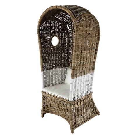 fauteuil avec dossier haut fauteuil avec dossier haut en rotin kabin maisons du monde