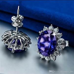 2020 princess diana wedding earrings jewelry really solid