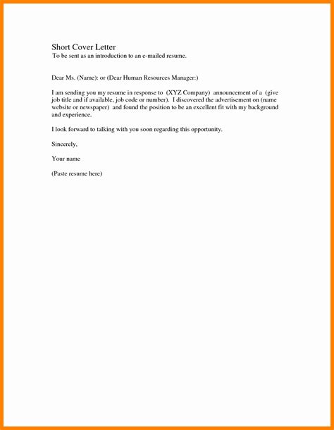 simple cover letter for application 10 exle of a simple application letter bike friendly