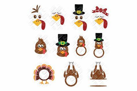After your purchase, you can immediately download a zip file containing the following files Turkey SVG Monogram Thanksgiving in SVG, DXF, PNG, EPS ...