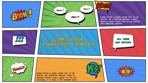 comic book powerpoint template   slidebazaar