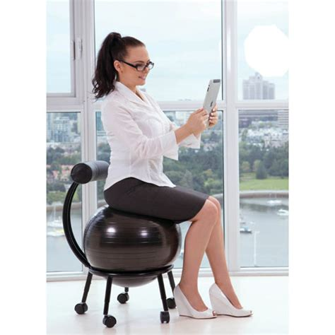 chaise ballon purathletics chair wte10441 black stability