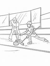 Curling Coloring Printable sketch template