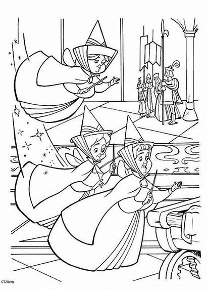 Coloring Fauna Flora Merryweather Pages Sleeping Beauty