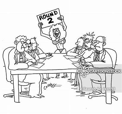 Boxing Negotiate Cartoon Bout Terms Funny Meeting