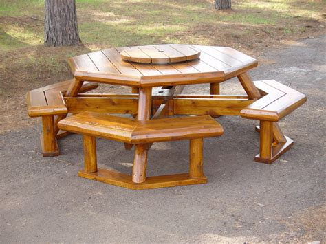 free hexagon picnic table designs woodworking projects