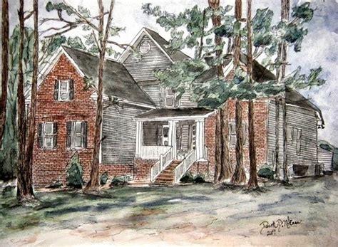 house drawings watercolor paintings by derek mccrea pen and ink