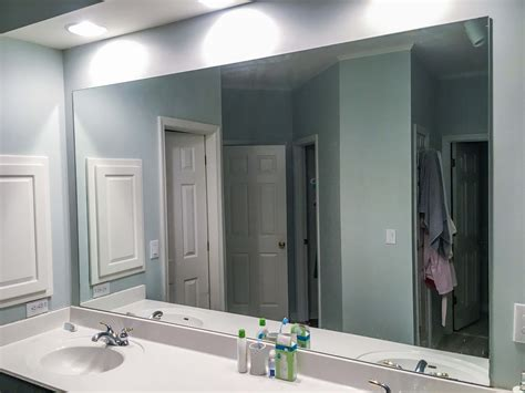 Builder Grade Bathroom Mirror by How To Diy Upgrade Your Bathroom Mirror With A Stained