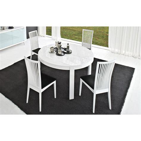 table de cuisine ronde avec rallonge table de repas ronde extensible atelier meubles et