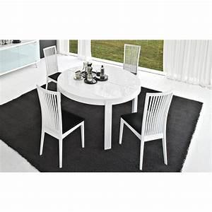 Table Ronde Extensible Design : table de repas ronde extensible atelier meubles et atmosph re ~ Teatrodelosmanantiales.com Idées de Décoration