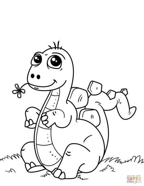 cute  dinosaur coloring page  printable