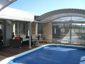 piscine couverte sur terrasse les architecteurs With prix piscine enterree couverte