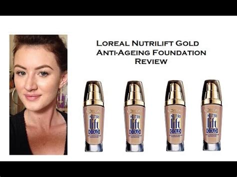 Loreal Nutrilift Gold Anti-Ageing Foundation Review & Demo