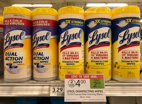 Lysol Disinfecting Wipes Only $1 At Publix