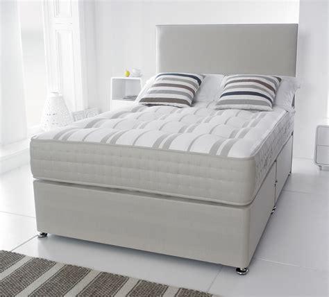 bed and mattress giltedge beds ortho stripe pocket 1000 5ft kingsize divan bed