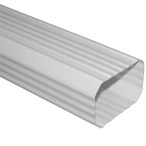 vinyl gutters lowes shop severe weather 120 in white vinyl downspout at lowes 3278