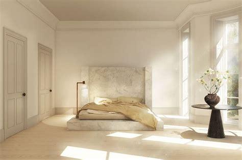 rendering   rick owens alabaster bed interiors
