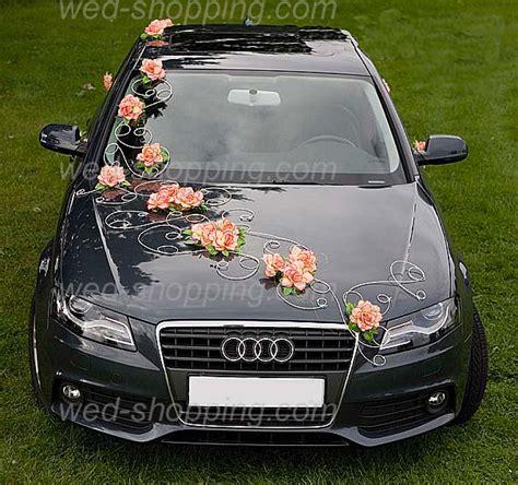 Wedding Car Decoration Orange Flowers