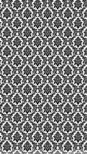Black White Victorian iPhone Wallpaper