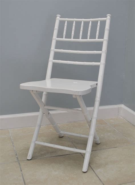 white chiavari folding chair