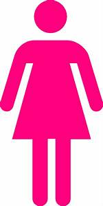 Gallery for gt pink girls bathroom symbol for Girls bathroom symbol