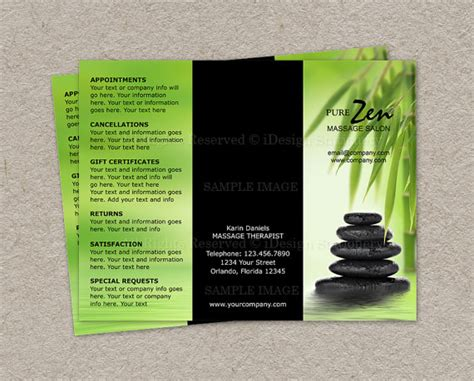 Free Spa Brochure Templates 6 Best Images Of Spa Brochure Design Spa Brochure