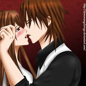 Naughty kiss - kaname-x-yuuki by DemonAngelWings on DeviantArt
