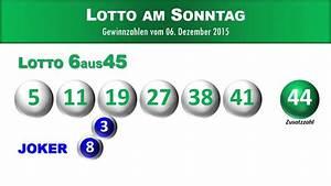 Lotto Kosten Berechnen : lottozahlen 6aus45 und quoten vom sonntag lotto news ~ Themetempest.com Abrechnung