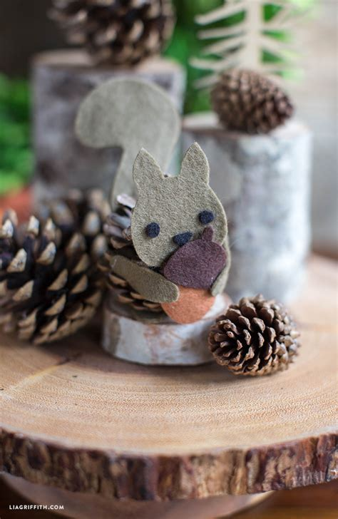 The Chew Templates Pine Cones Animals by Pinecone Felt Squirrel Lia Griffith