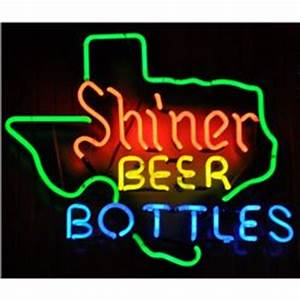 Shiner Beer in Bottles Texas Neon Sign