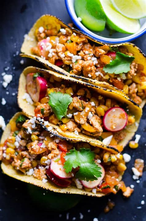 tacos chicken ground taco healthy recipes recipe ifoodreal dinner food vegetables meal easy meals filling most loaded minute visit using