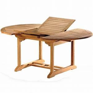 Table Exterieur En Bois : table teck exterieur ovale 120cm extensible ~ Teatrodelosmanantiales.com Idées de Décoration