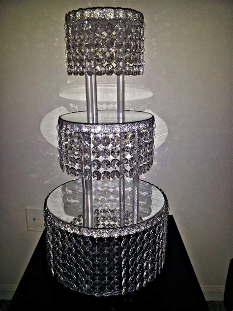 decoration stand 1 metre clear garland wedding cake stand
