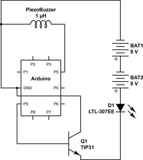 Arduino Common Ground Issue Powering Buzzer Leds