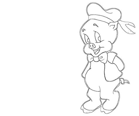 Porky the pig coloring pages download and print for free