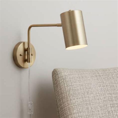 polished brass down light swing arm wall l 39w58 ls plus