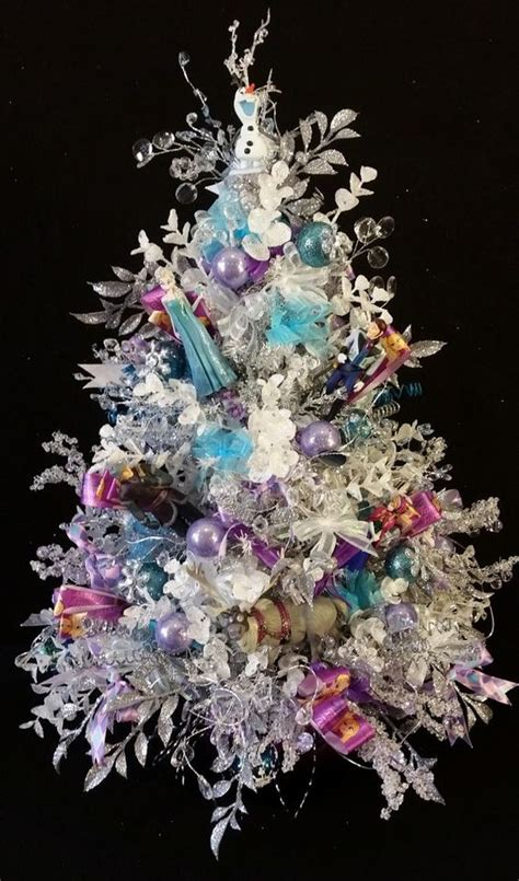 frozen ornaments lighted christmas trees  frozen