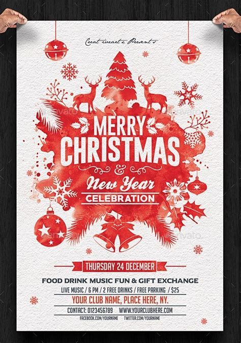 christmas twilight market flyer template free download3 beautiful christmas posters and flyer design templates