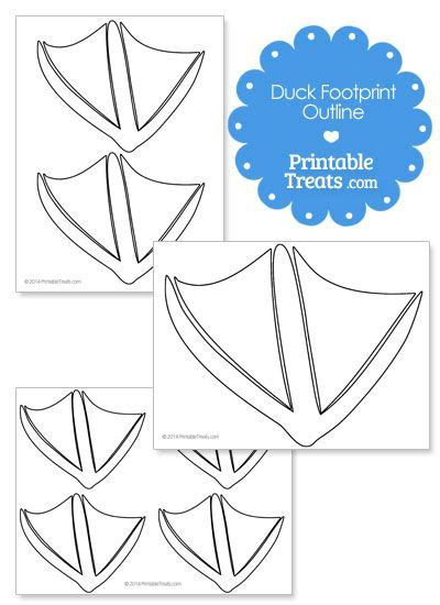 printable duck footprint template rubber duck baby