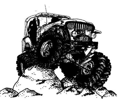 jeep cartoon offroad jeep on a rock clipart clipground