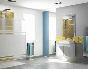 portes de placard coulissantes de salle de bain sur mesure With placard miroir salle de bain