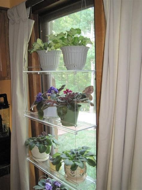 House Plants For Window by Hanging Window Plant Shelves Other Projects To Try